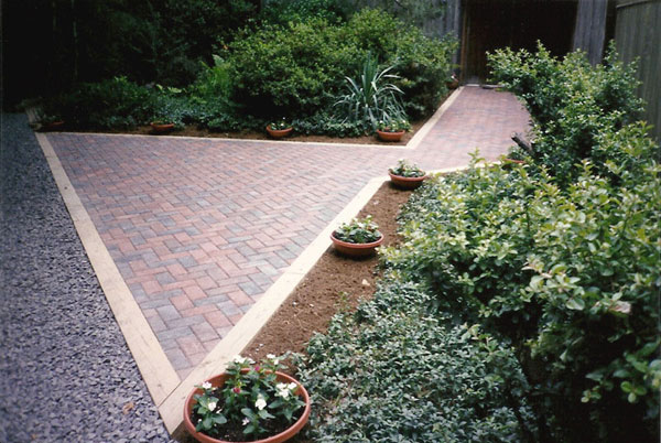 Brick paver entrance walk